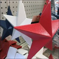 Red, White, and Blue Stars Straight-Entry Hooks Feature
