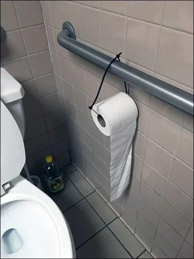 Restroom Toilet Paper Zip Tie 2