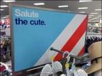 Salute The Cute Patriotic Store Sign Aux