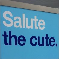 Salute The Cute Patriotic Store Sign Feature