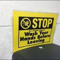 Stop Wash Hands Before Leaving Restroom 1