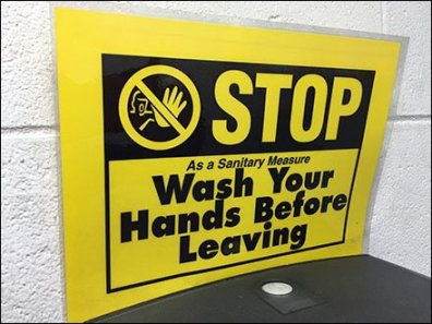 Stop Wash Hands Before Leaving Restroom 2