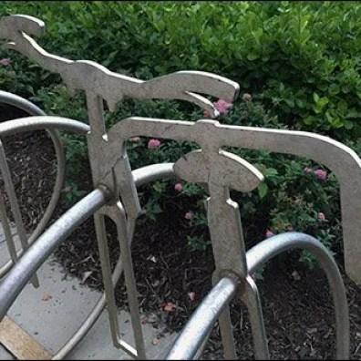 Unicycle Bicycle Rack 2