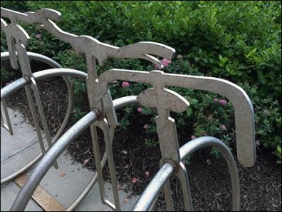 Unicycle Bicycle Rack 2