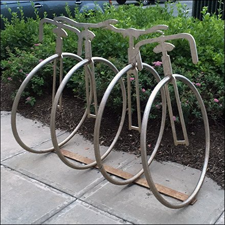 Unicycle Bicycle Rack Feature