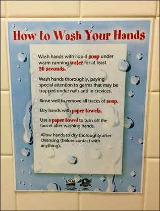 USDA How To Wash Hands 1