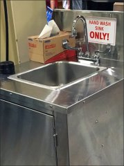 Wegmans Portable Hand Wash Sink 3