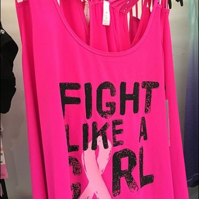 Fight-Like-A-Girl Promotional T-Shirt Tag Line