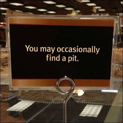 Occasional Pit Coil Clip Sign Holder Feature