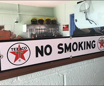 Pocono Skydivers Texaco No Smoking Sign Main