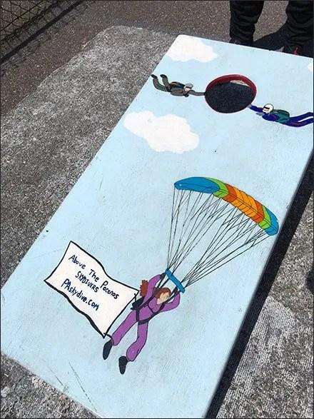 Pocono Skydivers Waiting Area Bean Bag Toss 3