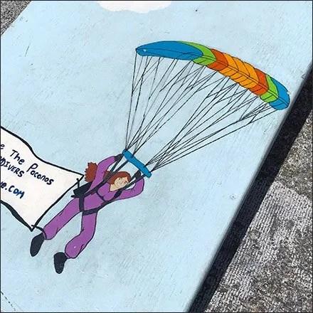 Pocono Skydivers Retail - Waiting Area Bean Bag Toss