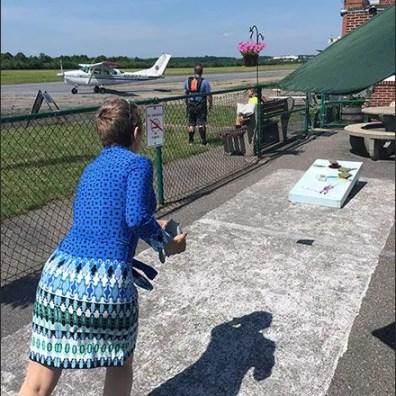 Pocono Skydivers Waiting Area Bean Bag Toss Main