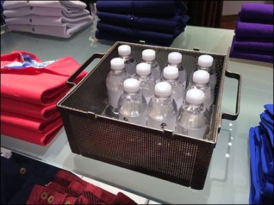 Robert Graham Branded Water in Perforated Carrier