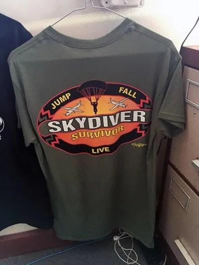 Skydiver T-Shirt Merchandising Clothes Hanger 3