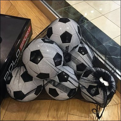 Soccer Ball Mesh Bag Popping Feature