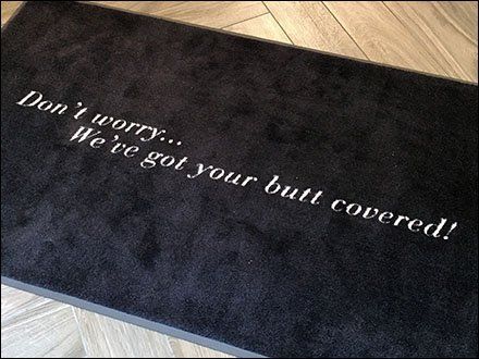Spanx We've Got Your Butt Covered Welcome Mat Main