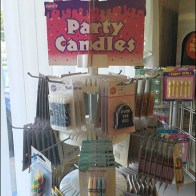 Party Candle Table-Top Spinner With Plug-In Display Hooks