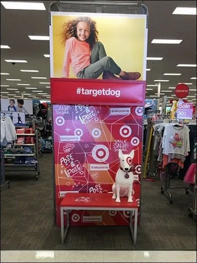 Bullseye as Pose and Post #TargetDog Mascot