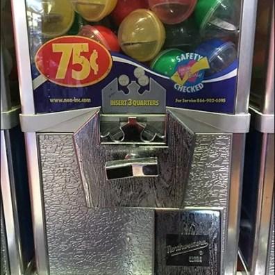 Double Bank Gumball Machine Dual Merchandising