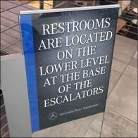 Mercedes-Benz C-Channel Restroom Navigation Sign
