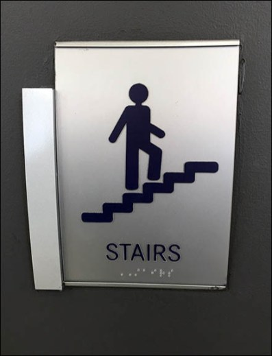 Mercedes Benz Manhattan C-Channel Stair Sign 1