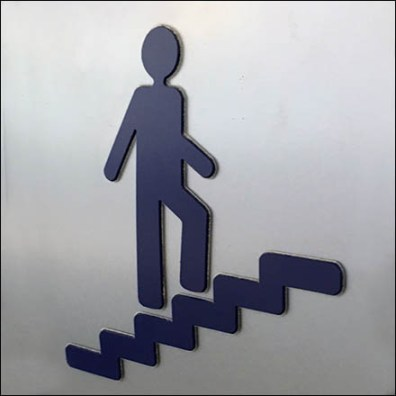 Mercedes-Benz C-Channel Stair Sign