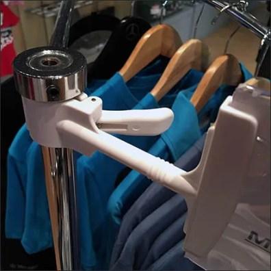 Mercedes Benz Manhattan T-Shirt Rack Sign Clip Feature