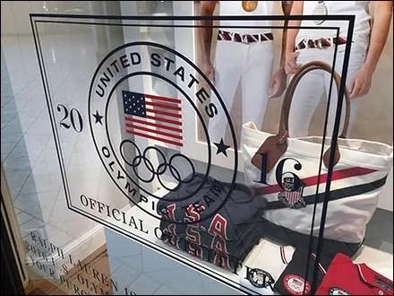 Polo Ralph Lauren Olympics Window Cling Main