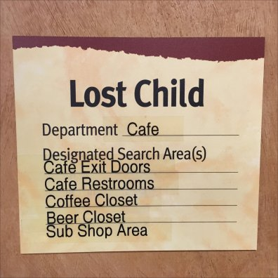Lost Child Search Protocol Checklist