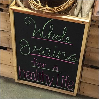 Whole Grains for a Healthy Life Chalkboard Feature