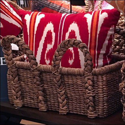 Wicker Basket Pillow Presentation Feature 1