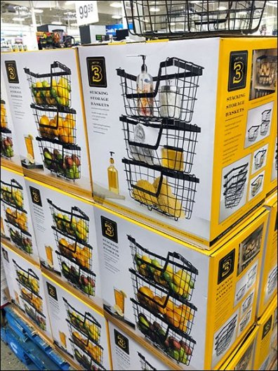 Wire Basket Pallet Merchandising 2