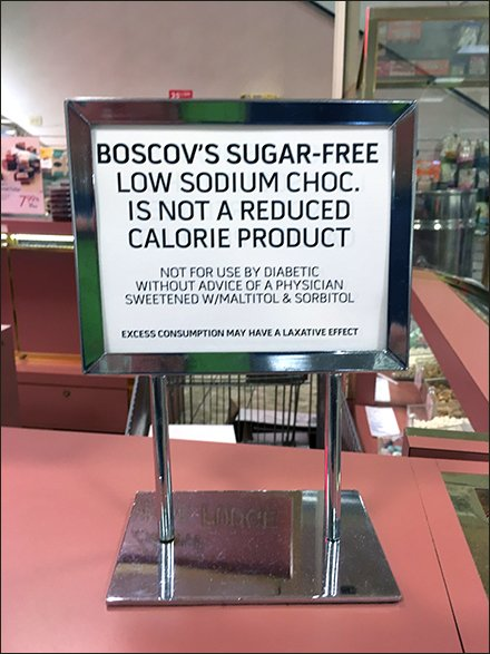 Warning: Sugar Free Candy Is Not Fat Free