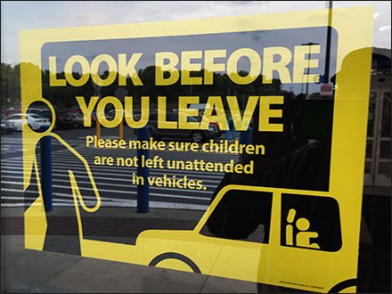 Look-Before-You-Leave Un-Attended Child Warning