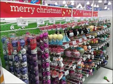 Hallmark Christmas Ornament Straight-Entry Pegboard Display