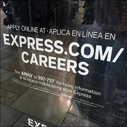 Permanent Express Hiring Entry Sign