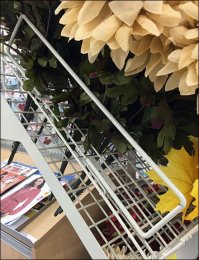 Fall Floral Endcap Display Steeply Declined