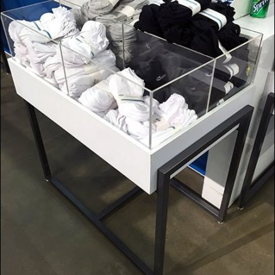 Freestanding Acrylic Bulk Bins For Socks And Such