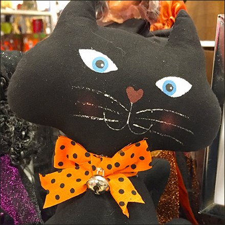 Halloween Plush Table-Top Sign Stand With Header