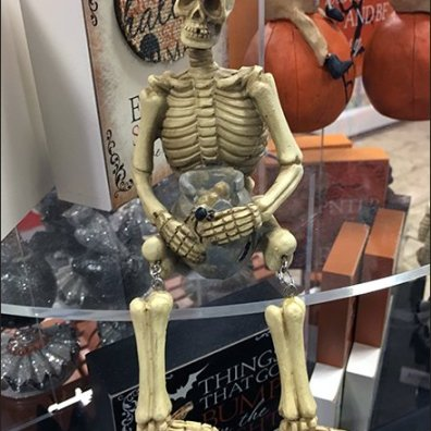 Halloween Skeleton As Shelf-Edge Merchandising