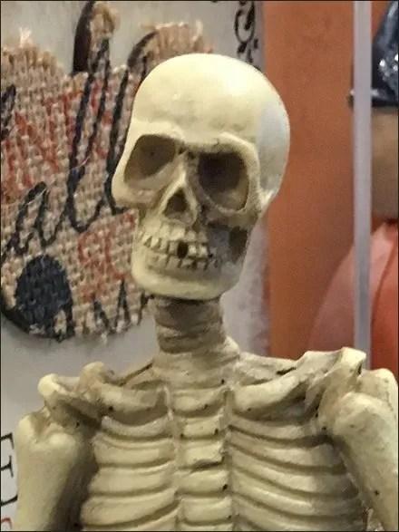 Halloween Skeleton As Shelf-Edge Merchandising