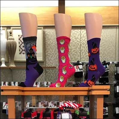 Halloween Socks Display Main