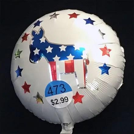 Pick-A-Party Political Balloon Merchandising Choices