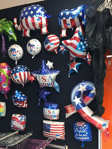 Multi-Party Political Balloons Display
