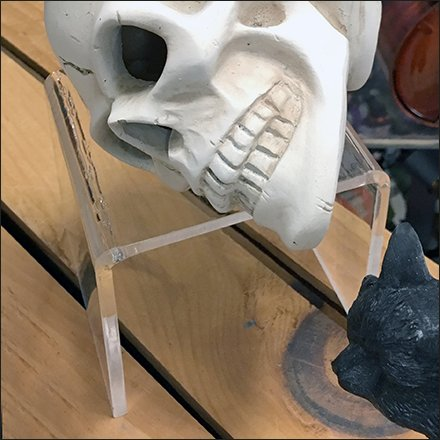 Acrylic Flyover Pedestal for Halloween Skulls
