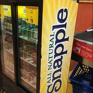 Snapple Upright Cooler Branded Billboard
