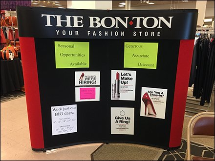 Bon-Ton Retail Fixtures - Bon Ton Fashion Hiring Exhibit