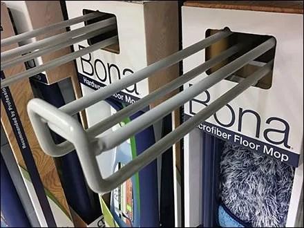 Quad Loop Hook for Microfiber Mop Display