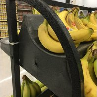 Curved Banana Rack Cradles Fruit Front and Back